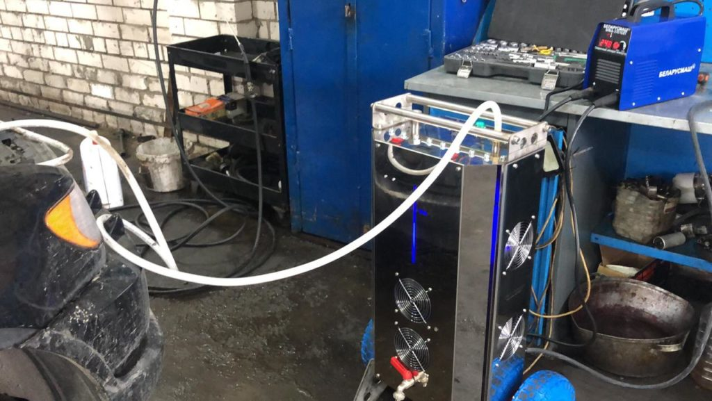 Очистка ДВС водородом